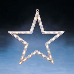 Small Image of Konstsmide 47cm Clear Star Window Silhouette (2164-000EE)
