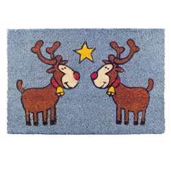 Small Image of Rudolph the Red Nosed Reindeer Christmas Coir Doormat