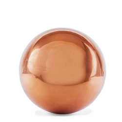 Small Image of Polished Copper Stainless Steel 9cm Garden Sphere Gazing Ball Ornament
