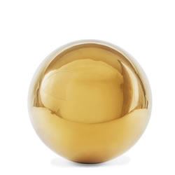 Small Image of Polished Gold Stainless Steel 9cm Garden Sphere Gazing Ball Ornament