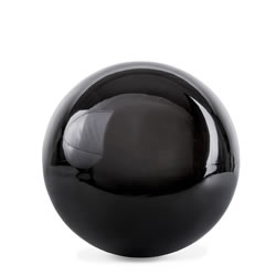 Small Image of Polished Black Stainless Steel 9cm Garden Sphere Gazing Ball Ornament