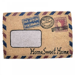 Small Image of Home Sweet Home Air Mail Coir Doormat for the Home