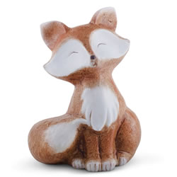 Small Image of Scout the 20cm Sitting Terracotta Fox Statue Ornament