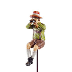 Small Image of Nosey Neighbour Man Figurine Garden Ornament on a Stake