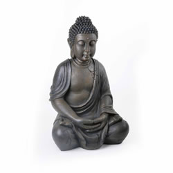 Small Image of Large Detailed Stone Look Resin Buddha Statue Ornament