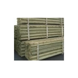 Small Image of 10 x 1.65 (5,5ft) pressure treated machine round posts - 75mm Diameter