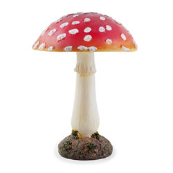 Small Image of Large Red Resin Mushroom Toadstool Garden Ornament - 20cm Tall