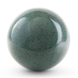 Small Image of Green Marble Effect 18cm Stainless Steel Garden Gazing Ball Ornament