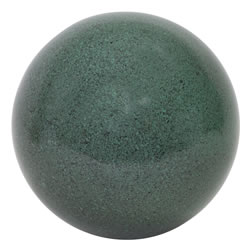 Small Image of Green Marble Effect 25cm Stainless Steel Garden Gazing Ball Ornament