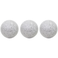 Small Image of 3 x Grey Marble Effect 25cm Stainless Steel Garden Gazing Ball Sphere Ornaments