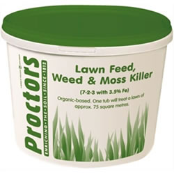 Small Image of 5kg tub of Proctors 3 in 1 Lawn feed weed and moss killer grass fertiliser