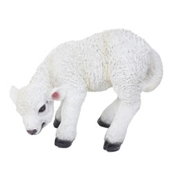 Small Image of Realistic 13cm Grazing White Lamb Sheep Animal Garden Ornament