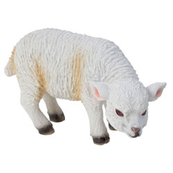 Small Image of Realistic Small 10cm Grazing White Lamb Sheep Animal Garden Ornament