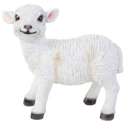 Small Image of Realistic 27cm Standing White Lamb Sheep Animal Garden Ornament