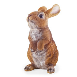 Small Image of Clyde the Realistic Resin Standing Rabbit Garden Ornament