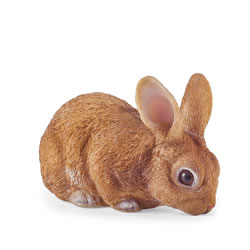 Small Image of Cleo the Realistic Resin Laying Rabbit Garden Ornament