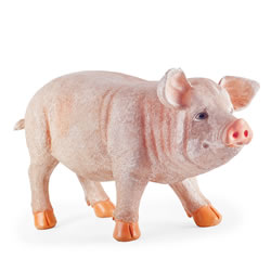 Small Image of Penelope the Extra Large Realistic Resin Standing Pig Garden Ornament