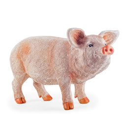 Small Image of Pippin the Large Realistic Resin Standing Pig Garden Ornament