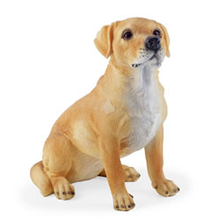 Small Image of Nigel the Sitting Golden Labrador Dog Figurine Garden Ornament