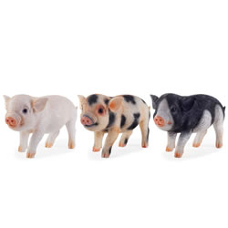 Small Image of Three Little Pigs Realistic Resin Garden Ornament Set