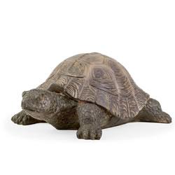 Small Image of Einstein the Realistic Resin Tortoise Garden Ornament