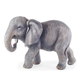 Small Image of Ezra the Large Realistic Resin Elephant Garden Ornament