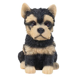 Small Image of Realistic 15cm Sitting Yorkshire Terrier Puppy Dog Statue Ornament
