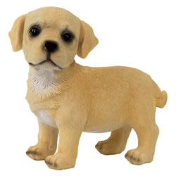 Small Image of Realistic 16cm Standing Yellow Labrador Puppy Dog Statue Ornament