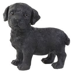 Small Image of Realistic 16cm Standing Black Labrador Puppy Dog Statue Ornament