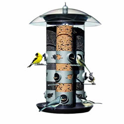Small Image of Perky Pet 2-in-1 Triple Tube Wild Bird Feeder