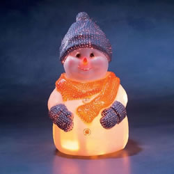 Small Image of Konstsmide 40cm Blow Moulded Fibre Optic Snowman (3314-000EE)