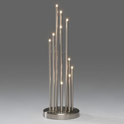 Small Image of Konstsmide Metal Brushed Metal 12 Candlesticks (3535-900TE)