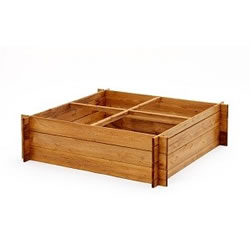 Small Image of 4 Section Extra tall (30cm) Wooden Raised Garden Bed for flowers and vegetables