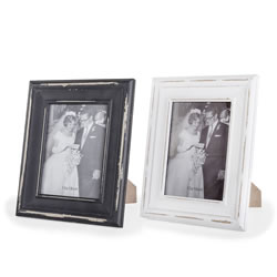 Small Image of Felix' Vintage Black & White 13x18cm Free-Standing Photo Frame Pair
