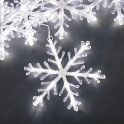 Small Image of Konstsmide 5 White Snowflake Light Set (4439-203EE)