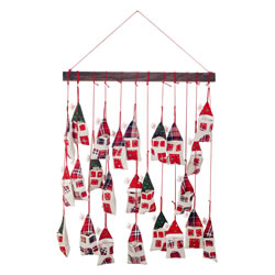 Small Image of Hanging House Mobile Christmas Advent Calendar