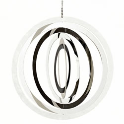 Small Image of Large Stainless Steel Circle Hanging Garden Windspinner