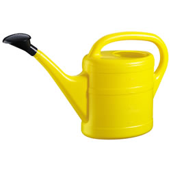 Small Image of 5L Yellow Plastic Garden Watering Can with Rose