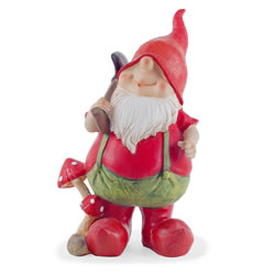 Small Image of Mason the Traditional Red Gardening Gnome Figurine Ornament with Spade