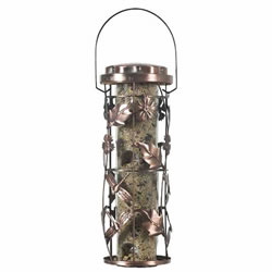 Small Image of Perky Pet Copper Metal Wild Bird Garden Feeder