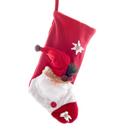 Small Image of Large 50cm Plush Fabric Father Christmas Stocking