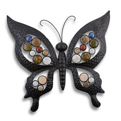Small Image of Metal Butterfly Garden Wall Art Feature Ornament for Garden or Home