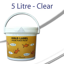 5L Gold Label Pond Paint - Clear