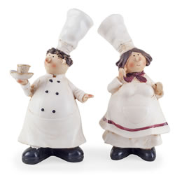 Small Image of Lucy & Leonard the Fat Chef Home Kitchen Ornaments