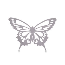 Small Image of Small Reflective Finish Steel Butterfly Wall Art