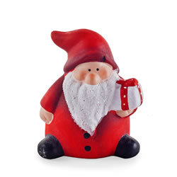 Small Image of Cute Ceramic Father Christmas Ornament