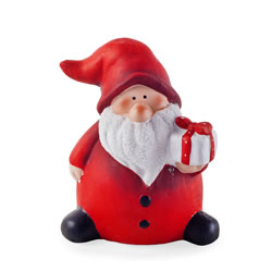 Small Image of Fat Father Christmas Ceramic Ornament