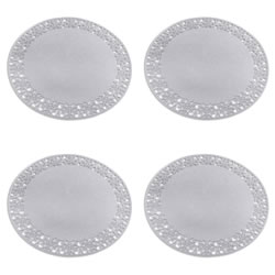 Small Image of Set of 4 35cm Grey Felt Snowflake Christmas Placemats