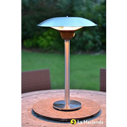 Small Image of La Hacienda Tabletop 2100w Halogen Patio Heater