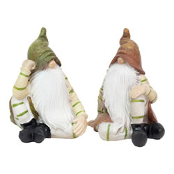 Small Image of Aspen & Juniper the Sitting Woodland Garden Gnome Ornaments
